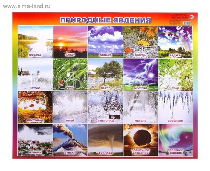 цены Обучающие плакаты Алфея Плакат Природные явления