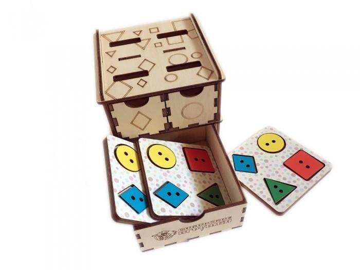 Картинка для Деревянные игрушки Сибирские игрушки Умный комодик маленький Геометрические фигуры