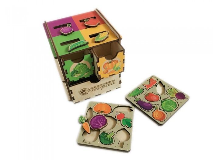 Картинка для Деревянные игрушки Сибирские игрушки Умный комодик маленький Овощи