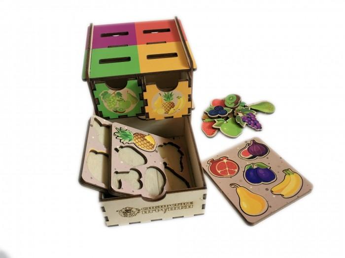 Картинка для Деревянные игрушки Сибирские игрушки Умный комодик маленький Фрукты, ягоды