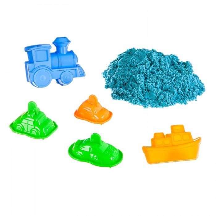 Картинка для Кинетический песок Bondibon Набор игровой Марсианский песок 5 формочек транспорт