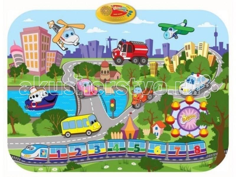 Игровой коврик 1 Toy Музыкальный Мой городМузыкальный Мой городИгровой коврик 1 Toy Музыкальный Мой город - отличный коврик, который реагирует на касание ребенка. Коврик способствует интеллектуальному и физическому развитию ребенка. Отлично помогает развивать моторику, зрительное восприятие, логическое мышление и наблюдательность вашего чада. Коврик обладает функцией автоматического выключения. Материал экологически чистый, абсолютно безопасный для ребенка.  Основные характеристики: дети легко обучаются обращению с ковриком, а мелодии и звуки, которые он позволяет воспроизводить, способствуют развитию восприятия и творческого самовыражения коврик легко складывается и удобен при переноске и хранении работает от 3 батареек типа АА (не входят в комплект).<br>