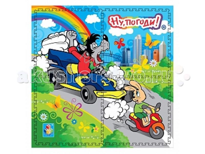 Игровые коврики 1 Toy Ну погоди! коврик-пазл Гонки развивающая игрушка 1toy ну погоди 1toy ну погоди музыкальные инструменты в барабане