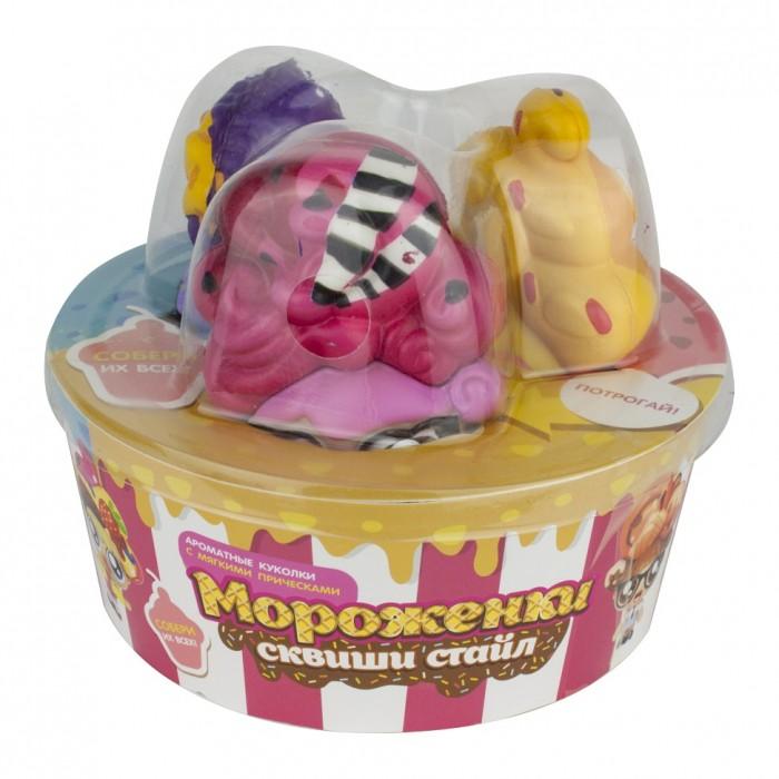 1 Toy Мороженки сквиши стайл Куколки с мягкими прическами ароматизированные 3 шт.