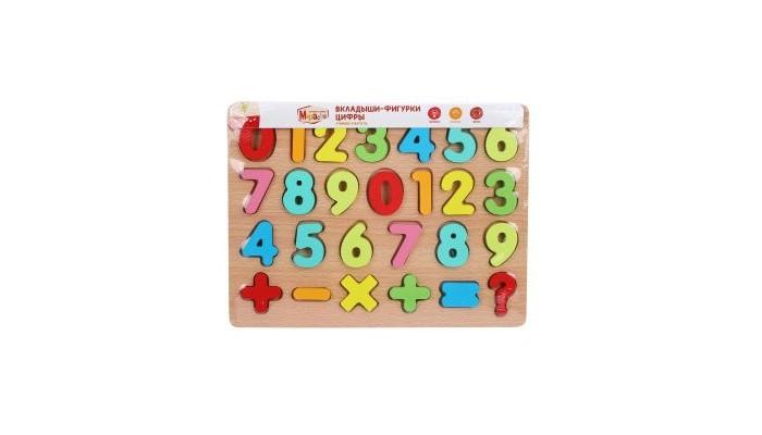 Картинка для Деревянные игрушки Mapacha Вкладыши Цифры Учимся считать