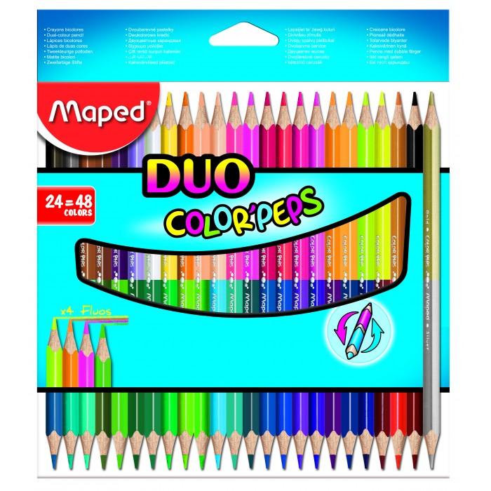 Картинка для Карандаши, восковые мелки, пастель Maped Карандаши цветные Color Peps 48 цветов 24 шт.