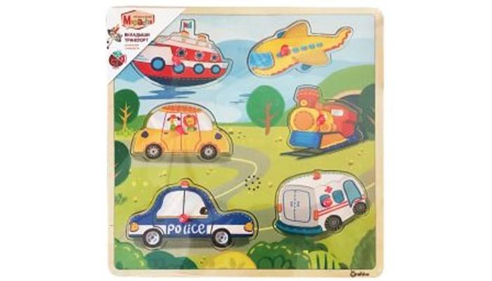 цена на Деревянные игрушки Mapacha Вкладыши Транспорт со звуками