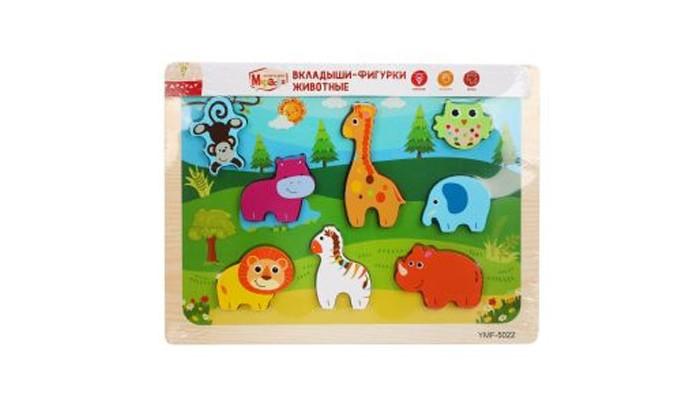 Картинка для Деревянные игрушки Mapacha Вкладыши-фигурки Животные 76759