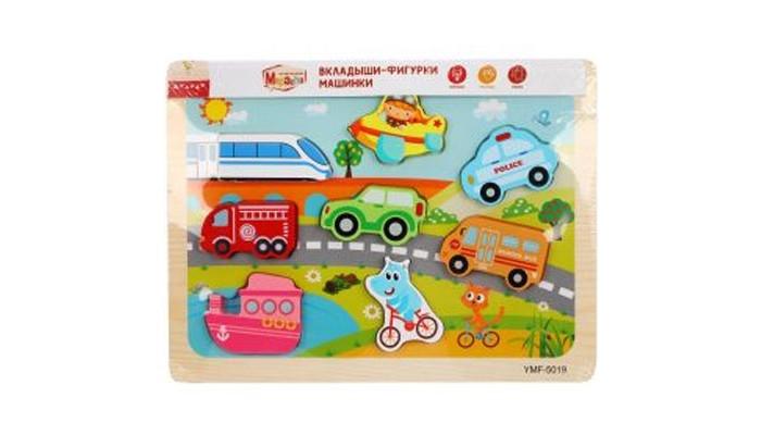 Картинка для Деревянные игрушки Mapacha Вкладыши-фигурки Машинки 76758