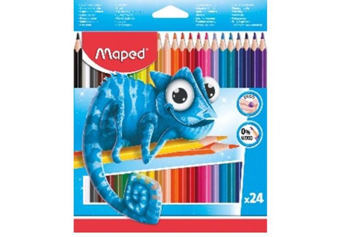 Картинка для Карандаши, восковые мелки, пастель Maped Цветные карандаши пластиковые Pulse 24 цвета