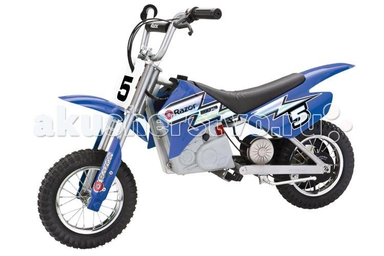 Электромобиль Razor электро-минибайк MX350электро-минибайк MX350Dirt Rocket™ MX350 — детский минибайк, простой, красивый и надежный. Электробайк MX350 рассчитан на поездки по грунтовой дороге, по траве — то есть идеален для дачи. Подходит и для города.  В отличие от бензиновых аналогов, Dirt Rocket™ MX350 не требует обслуживания и бензина. Этот минибайк — идеальный выбор следующего после велосипеда двухколесного друга для вашего ребенка.  От 8 лет Максимальная нагрузка 63 кг. Вес электробайка 29.5 кг. Мощный мотор 350 ватт Скорость до 23 км/ч. Настраиваемое положение руля Полностью защищен от влаги Запас хода 60 минут  Полная зарядка в течение 7 часов Время зарядки наполовину: 3 часа Размеры электробайка: 112 х 62 х 79 Не требует сервисного обслуживания<br>