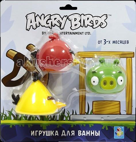 Игрушки для ванны 1 Toy Angry Birds Набор игрушек для ванны