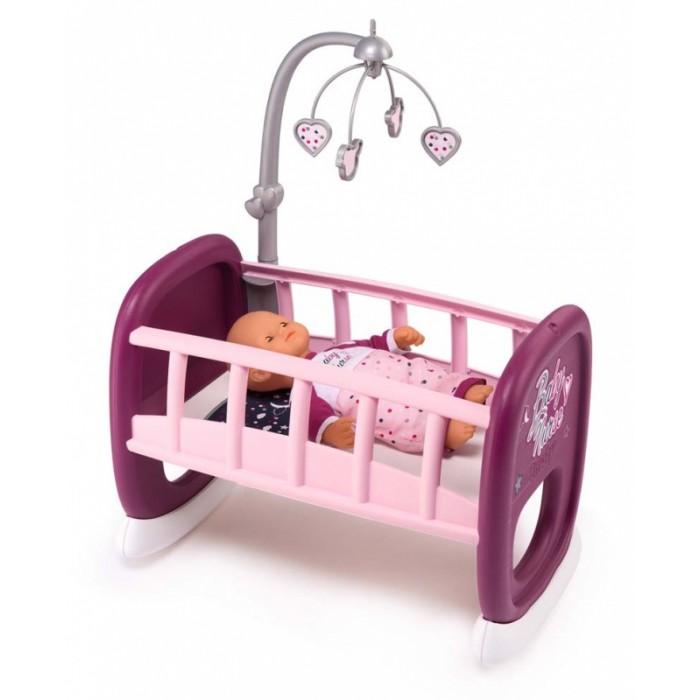 Картинка для Кроватки для кукол Smoby Baby Nurse Колыбель для пупса с мобилем 220343