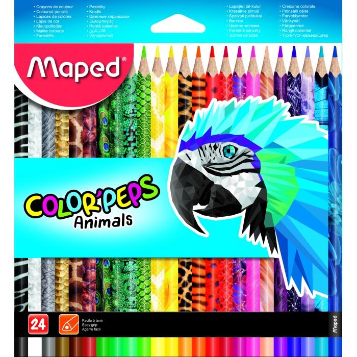 Карандаши, восковые мелки, пастель Maped Цветные карандаши Color Peps 24 цвета карандаши элефант 24 цвета