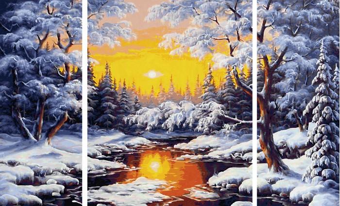 Картины по номерам Schipper Картина по номерам триптих Зимняя сказка 50х80 см картина postermarket красный скутер 30 х 30 см ag 30 50