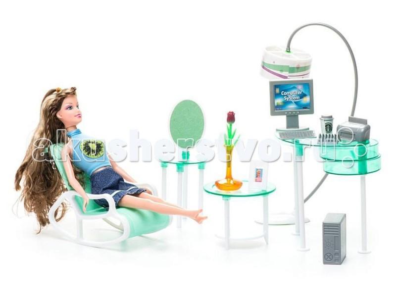 Куклы и одежда для кукол 1 Toy Набор мебели с куклой Домашний офис 1 toy кукольный домик красотка колокольчик с мебелью 29 деталей