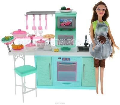 1 Toy Красотка Набор мебели с куклой КухняКрасотка Набор мебели с куклой Кухня1 Toy Красотка Набор мебели с куклой Кухня - идеальный выбор для любой маленькой девочки. В комплекте есть не только красивая кукла, но и мебель для обустройства комнатки.  Очаровательная кукла-красотка идет в комплекте с кухней и игровыми аксессуарами в духе шагающей в ногу со временем юной жительницы мегаполиса.   Мебель Красотка очень проста в сборке, сама девочка может собрать её, а если ребёнок ещё мал, то это легко осуществимо вместе с родителями.<br>