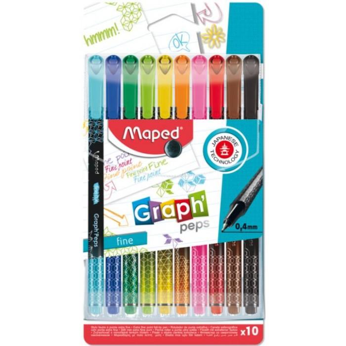 Картинка для Канцелярия Maped Ручка капиллярная Grah Peps 10 цветов