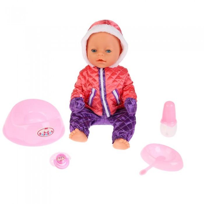 Картинка для Куклы и одежда для кукол Карапуз Кукла-пупс Сашенька интерактивная 40 см