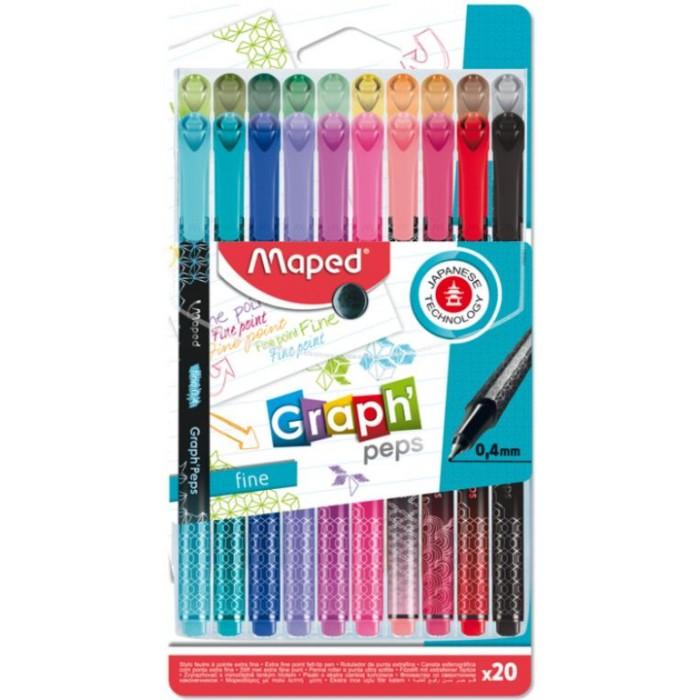 Картинка для Канцелярия Maped Ручка капиллярная Grah Peps 20 цветов
