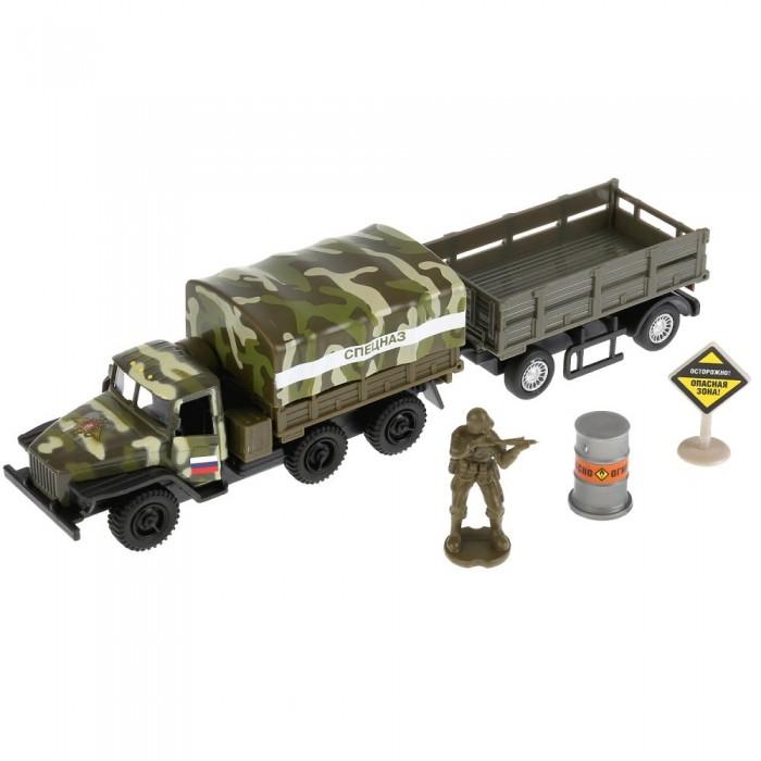 Технопарк Машина металлическая УРАЛ военный