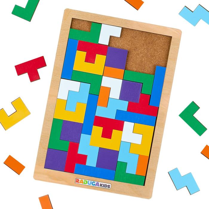 Деревянная игрушка Raduga Kids Головоломка Тетрис