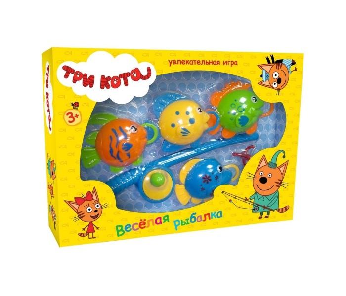 Настольные игры Играем вместе Игра Три кота Весёлая рыбалка игрушки для ванны играем вместе игра рыбалка три кота k095 h19006 r