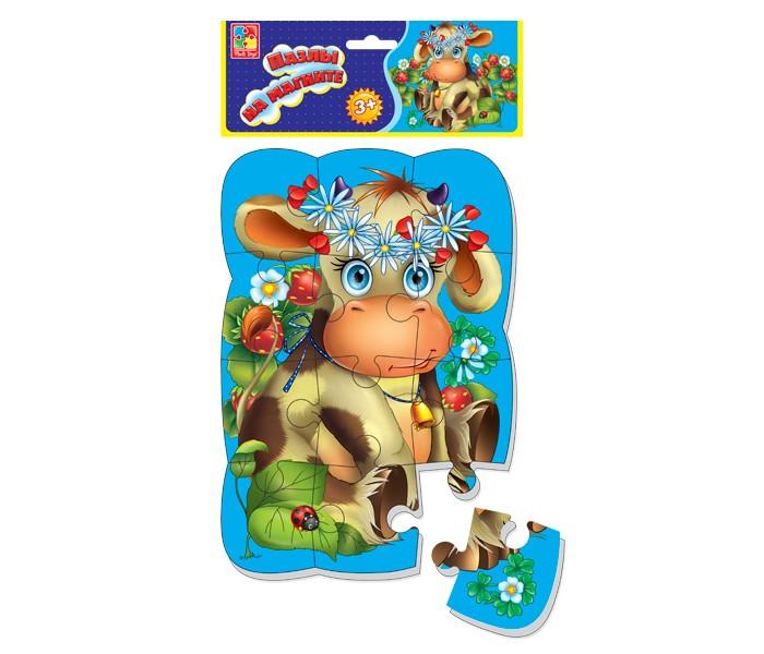 Пазлы Vladi toys Пазлы на магните Коровка пазлы vladi toys мягкие пазлы сказки репка а4 24 элемент