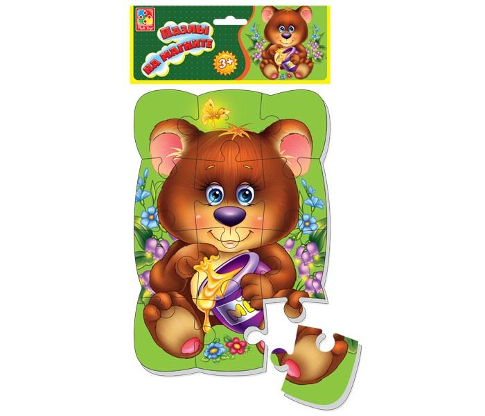 Пазлы Vladi toys Пазлы на магните Медвежонок пазлы vladi toys мягкие пазлы сказки репка а4 24 элемент