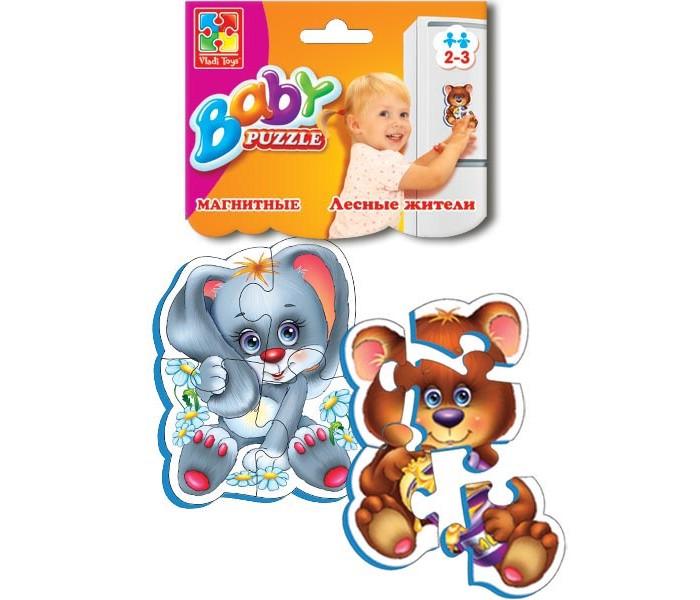 Пазлы Vladi toys Магнитные Беби пазлы Лесные жители пазлы vladi toys магнитные беби пазлы домашние любимцы