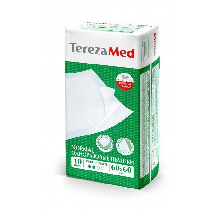 Картинка для Одноразовые пеленки TerezaMed Пеленки одноразовые впитывающие TerezaMed Normal 60x60 уп.10