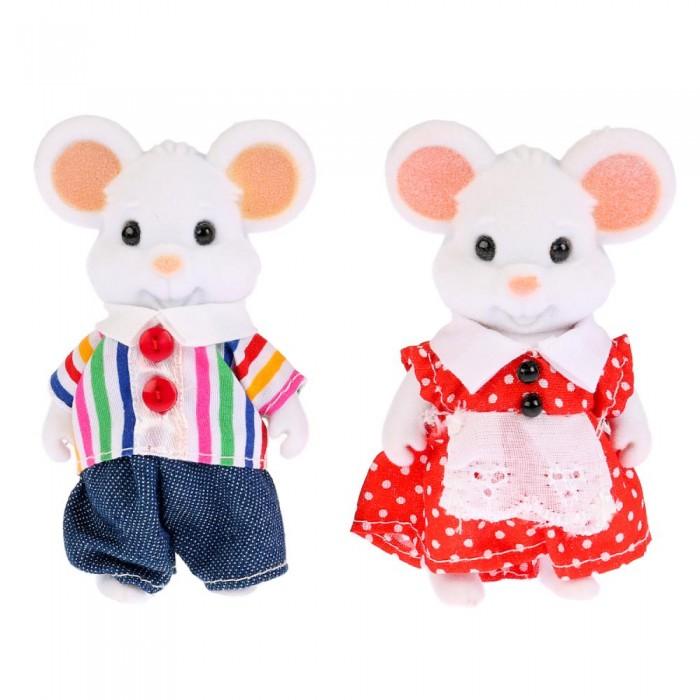 Мягкая игрушка Играем вместе Флокированные фигурки Семья мышек Лесная сказка