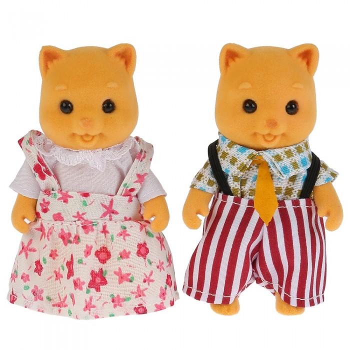 Мягкая игрушка Играем вместе Флокированные фигурки Семья кошек Лесная сказка 15 см