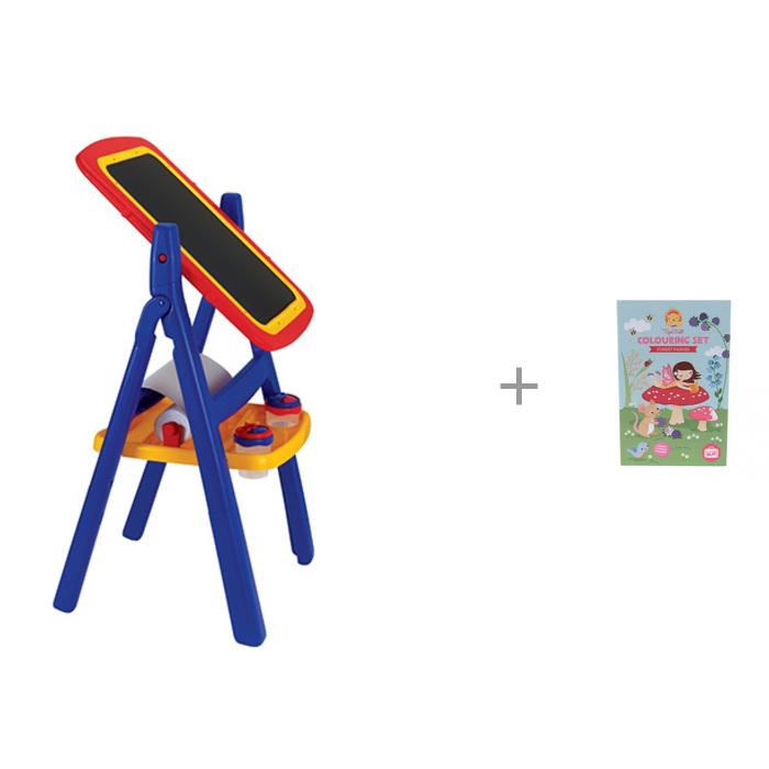 Картинка для Доски и мольберты Grown up Двухсторонний мольберт с комплектом для рисования Лесные феи