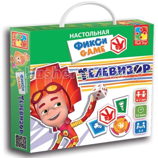 Игры для малышей Vladi toys Игра настольная Фикси Телевизор телевизор
