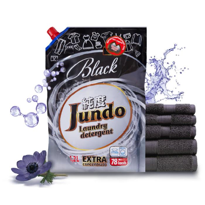 Картинка для Бытовая химия Jundo Black Концентрированный гель для стирки черного белья Запасной блок 1200 мл