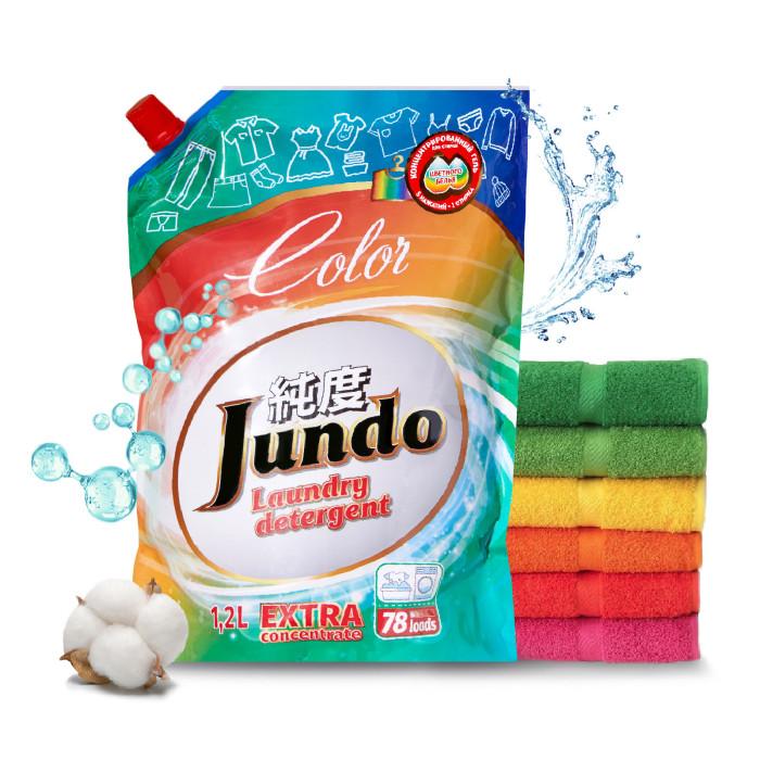 Картинка для Бытовая химия Jundo Color Концентрированный гель для стирки цветного белья Запасной блок 1200 мл