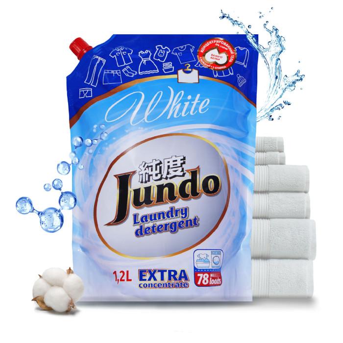 Картинка для Бытовая химия Jundo White Концентрированный гель для стирки белого белья Запасной блок 1200 мл