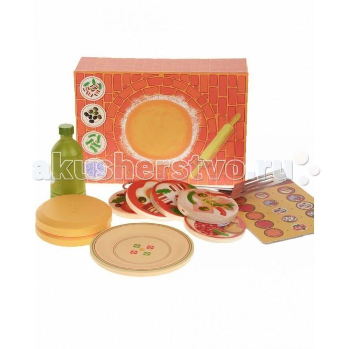 Djeco Сюжетно-ролевая игра ПиццаСюжетно-ролевая игра ПиццаДеревянная игрушка Djeco Сюжетно-ролевая игра Пицца - станет новой увлекательной игрой для ребенка. В этом наборе ваш ребенок найдет все самое необходимое для того, чтобы приготовить и накормить свои любимые игрушки вкусной пиццей.   В наборе:  печь основание для пиццы масло меню шпатель составные части для пиццы.<br>