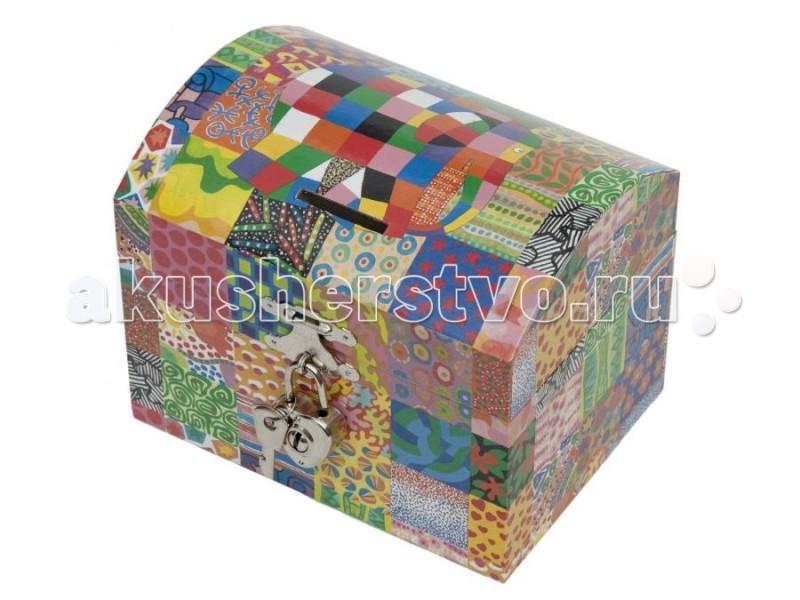 Детская мебель , Шкатулки Trousselier Музыкальная шкатулка-копилка Elmer арт: 76117 -  Шкатулки