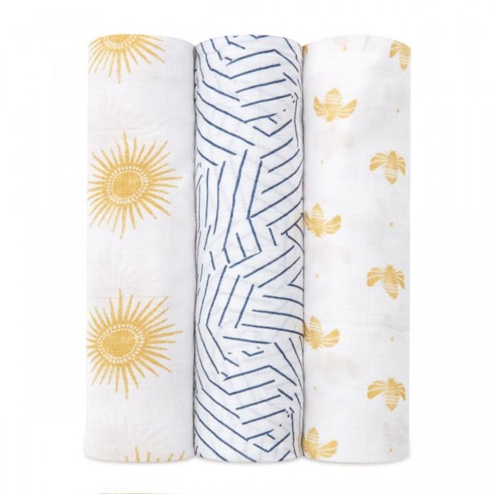 Купить Пеленки, Пеленка Aden&Anais из бамбука Golden sun 120х120 см 3 шт.