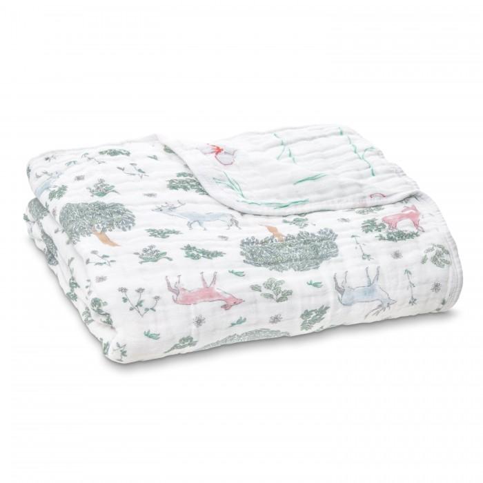 Купить Одеяла, Одеяло Aden&Anais из муслина Forest fantasy Deer 120х120 см