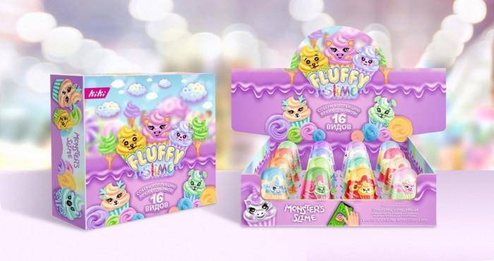 Развивающие игрушки Monsters Slime Слайм Fluffy Шоу-бокс 16 шт. 120 г