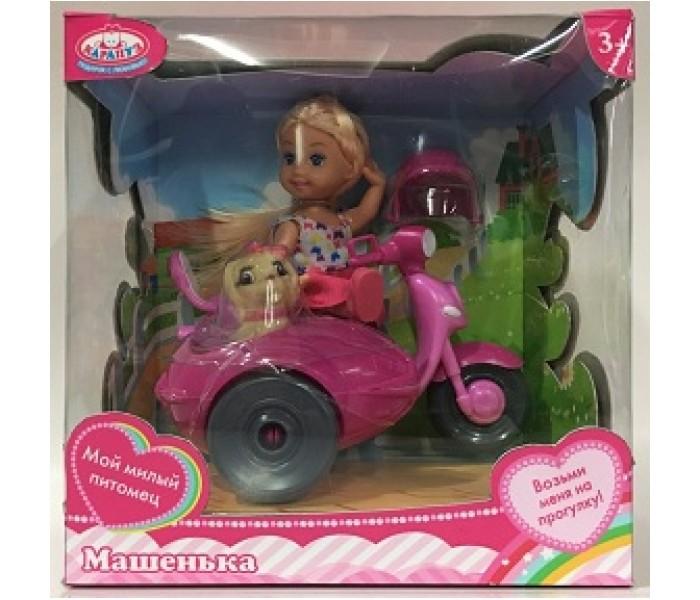 Купить Куклы и одежда для кукол, Карапуз Кукла Машенька с мотоциклом с коляской 12 см