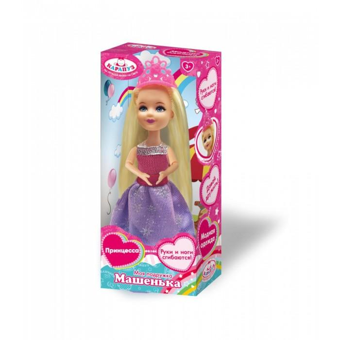 Картинка для Куклы и одежда для кукол Карапуз Кукла Машенька принцесса в розовом платье 15 см