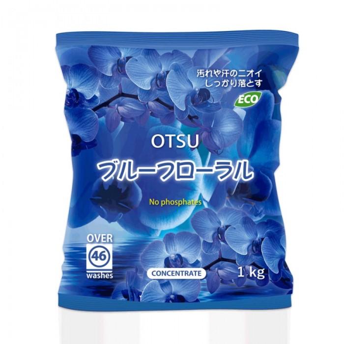 Картинка для Бытовая химия OTSU Синтетический cтиральный порошок с силой кислорода и мягким ароматом голубых орхидей 1 кг
