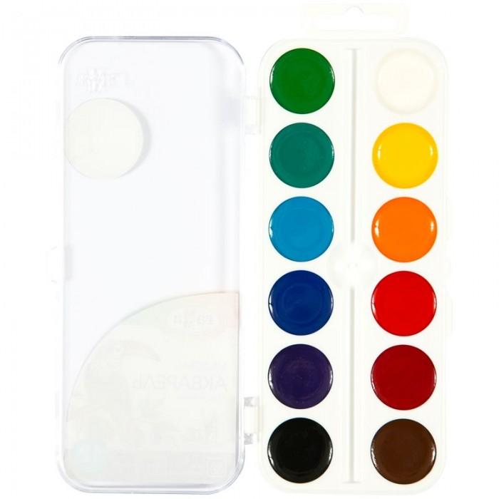 Картинка для Краски Гамма Акварель Классическая медовая полусухая 12 цветов