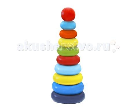 пирамидки Деревянные игрушки Alatoys Пирамидка Колечки 10 деталей