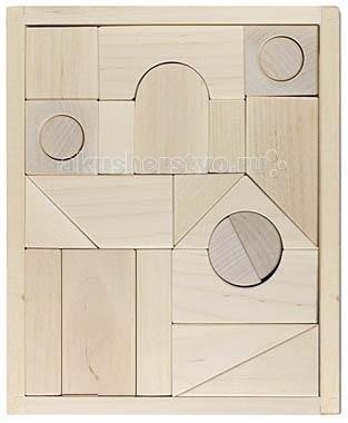 Деревянные игрушки Alatoys Конструктор Городок неокрашенный 23 детали жк лесной городок одинцово купить квартиру