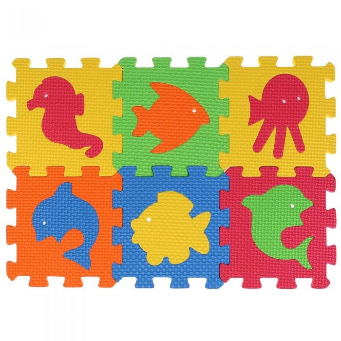 Игровые коврики Играем вместе пазл Любимые герои с животными